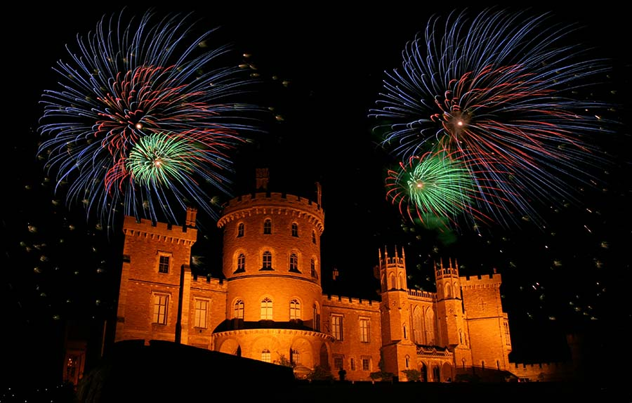 Wedding Fireworks At Belvoir Castle
