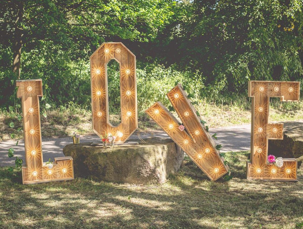 A Day In The Lights - Wedding LOVE Letter Lights
