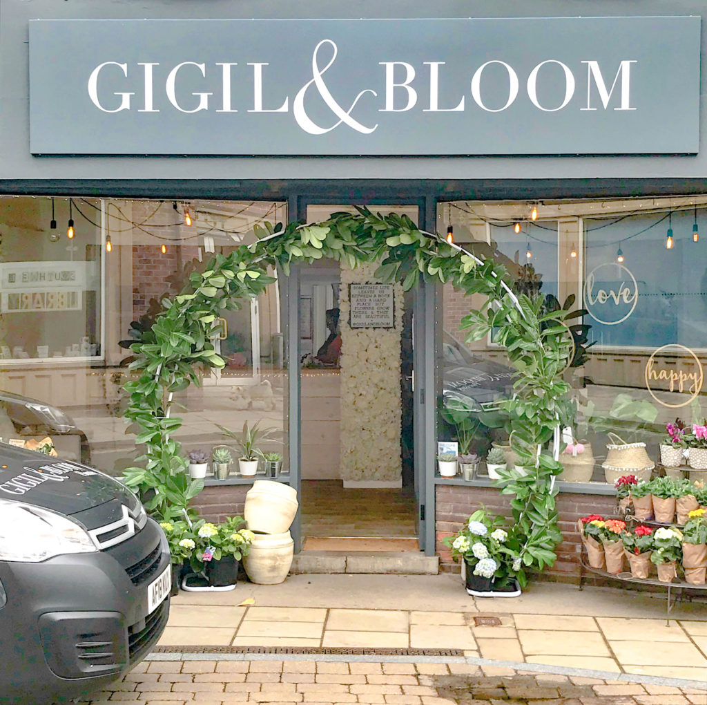 Moon Arch at Gigil & Bloom Florist, Southwell Notts