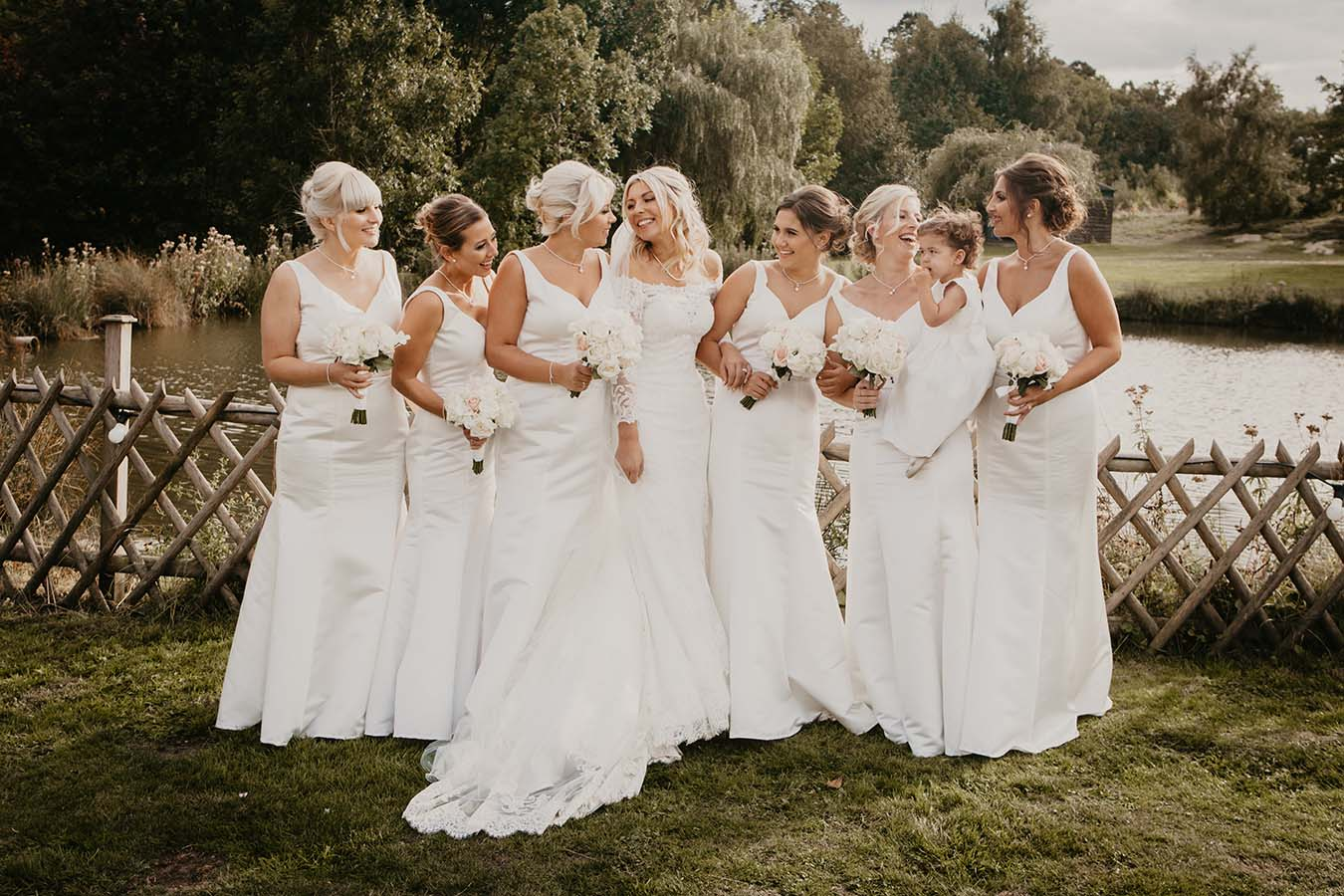 Stunning Marquee Wedding With Mori Lee Gown, Bridesmaids In White And A Helicopter Send Off