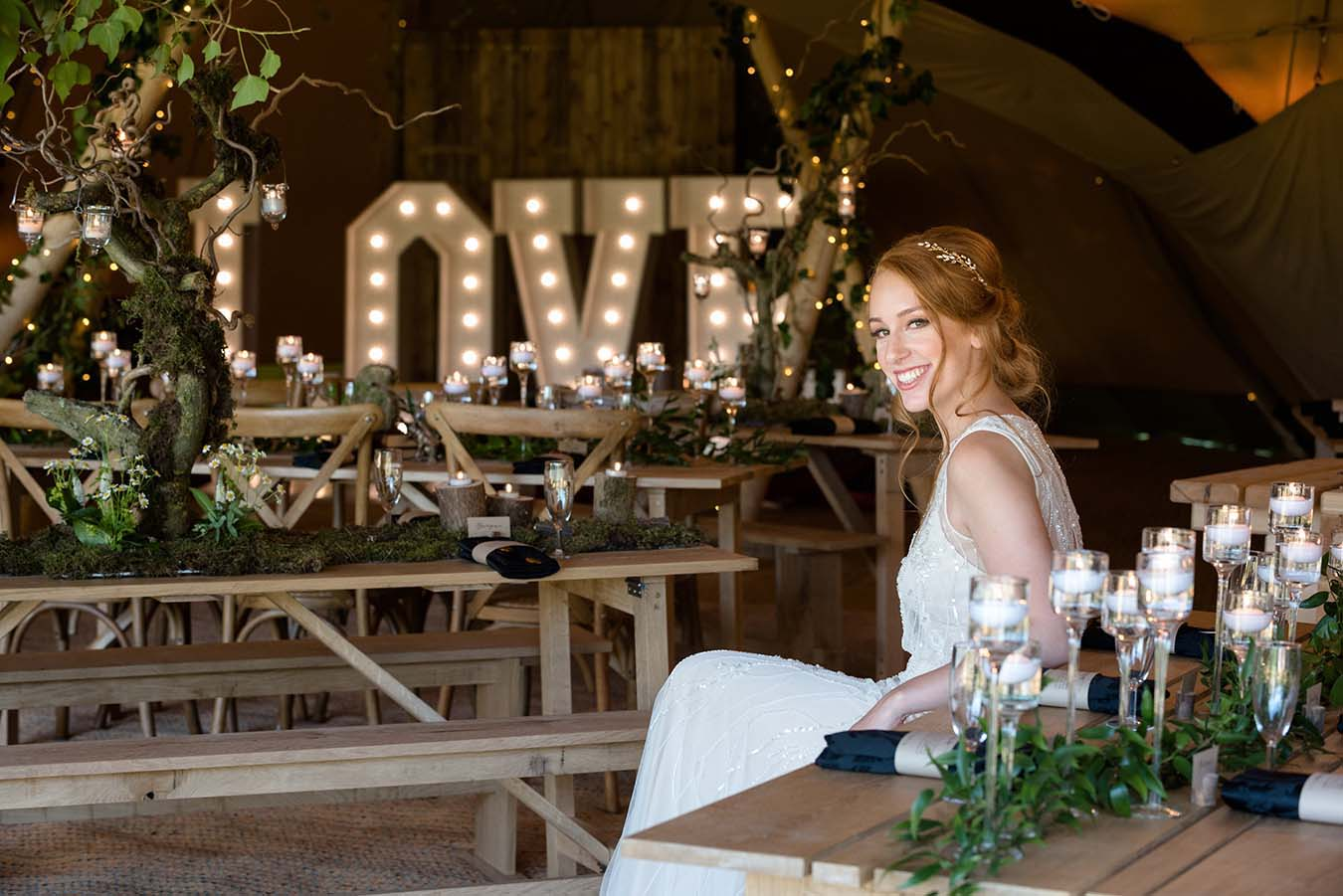 The Great Outdoor 'Teepees & Tents' Wedding Shoot