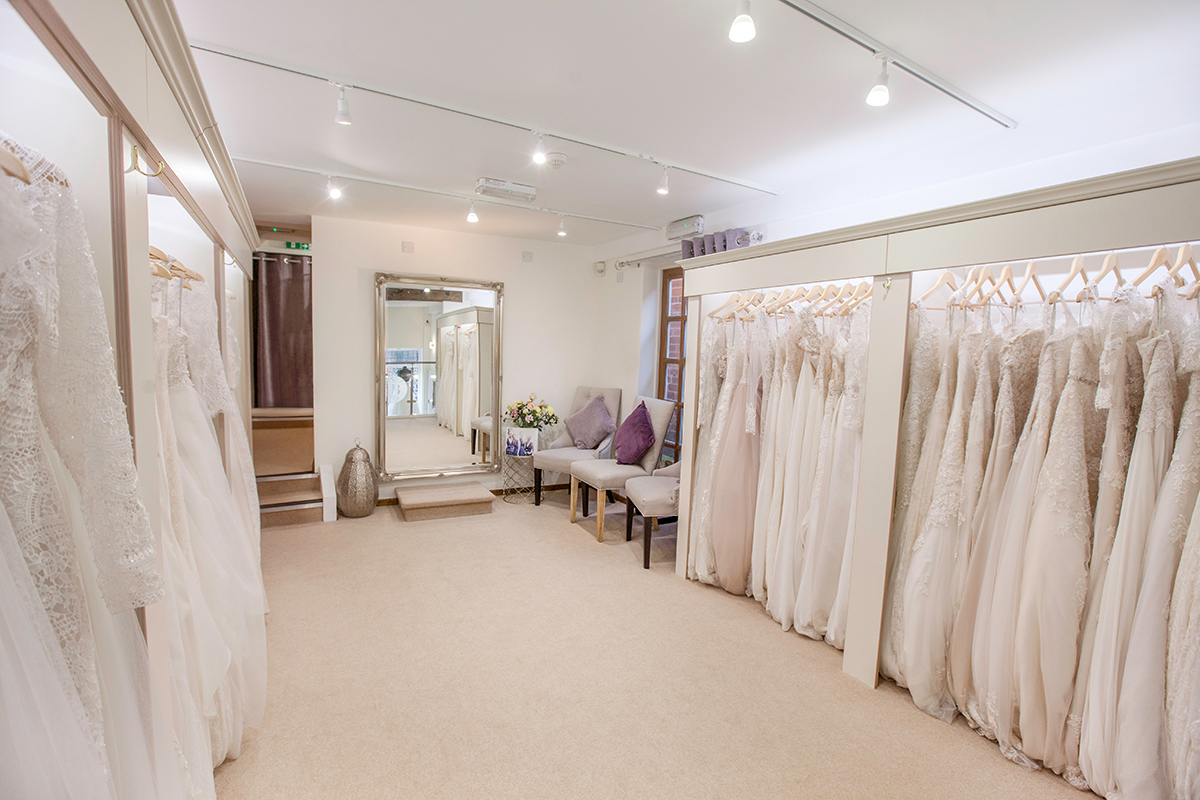 interior of Iconic Bride - Nottinghamshire bridal boutique